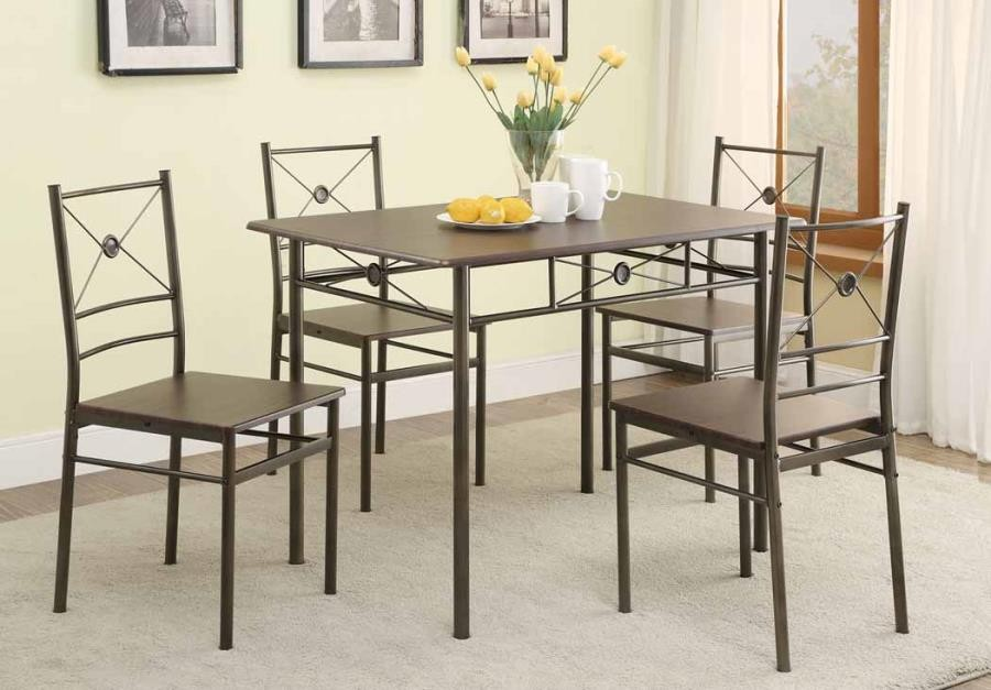 DINING PACKAGED SETS METAL - 5 PC SET & DINING: PACKAGED SETS: METAL - 5 PC SET | 100033 | Dining Room ...
