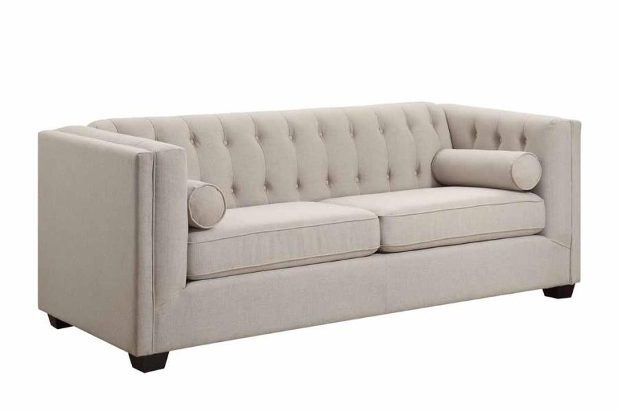 CAIRNS COLLECTION - Cairns Transitional Oatmeal Sofa