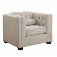 CAIRNS COLLECTION - Cairns Transitional Oatmeal Chair