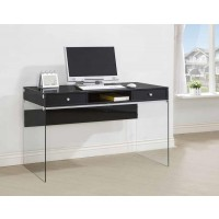 DOBREV COLLECTION - Contemporary Glossy Black Writing Desk