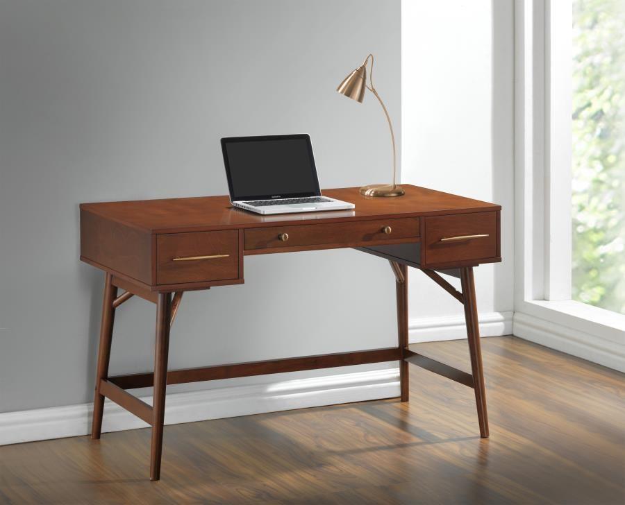 HOME OFFICE : DESKS   Transitional Walnut Writing Desk