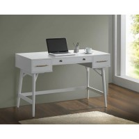 HOME OFFICE : DESKS - Transitional White Writing Desk