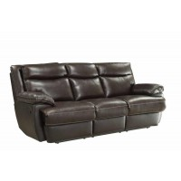 MACPHERSON MOTION COLLECTION - MacPherson Brown Leather Reclining Sofa