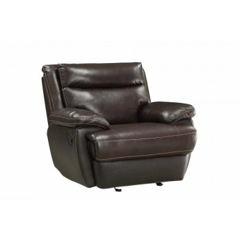 MACPHERSON MOTION COLLECTION - MacPherson Brown Leather Glider Recliner