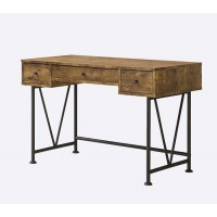 ANALIESE COLLECTION - Barritt Industrial Antique Nutmeg Writing Desk