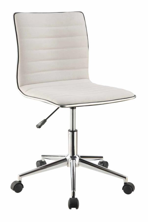 Home Office Chairs Modern White And Chrome Home Office Chair 800726 Home Office Desk Chair Midtown Outlet Home Furnishings