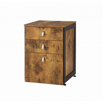 ESTRELLA COLLECTION - Estrella Industrial Antique Nutmeg File Cabinet