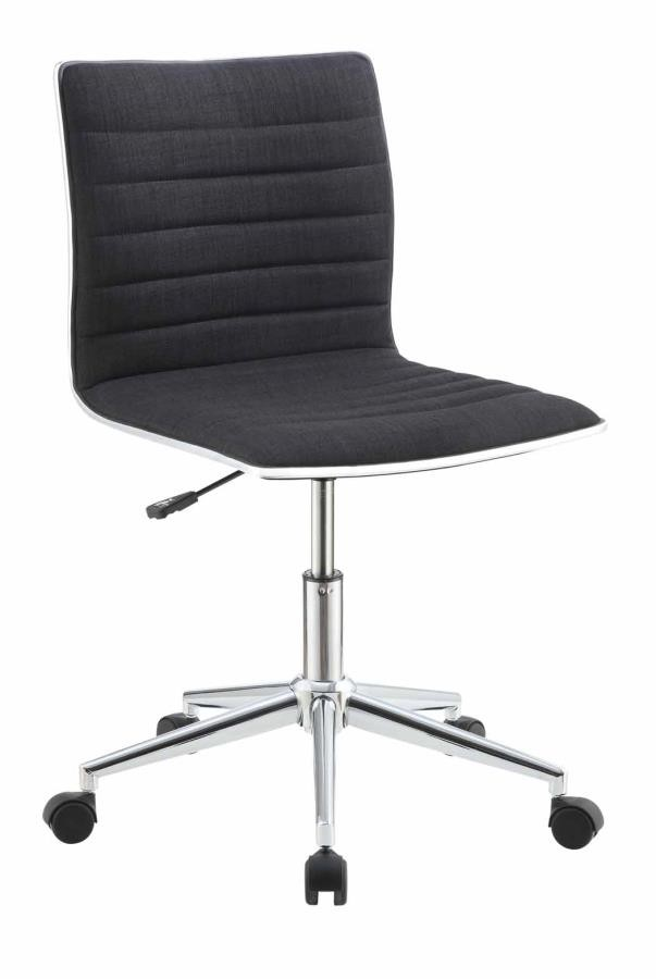 Home Office Chairs Modern Black And Chrome Home Office Chair 800725 Home Office Desk Chair Midtown Outlet Home Furnishings