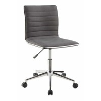 HOME OFFICE : CHAIRS - Modern Grey and Chrome Home Office Chair