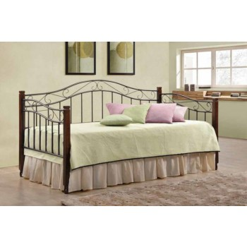 TWIN DAYBED - Traditional Sandy Black and Wood Daybed