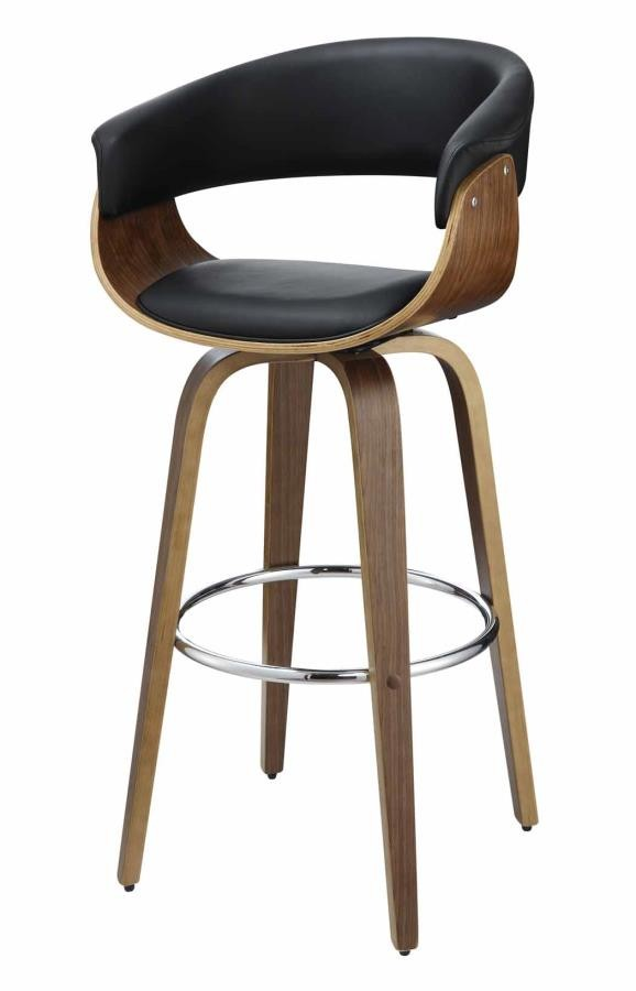 Pleasing Bar Stools Wood Swivel Contemporary Walnut And Black Bar Short Links Chair Design For Home Short Linksinfo