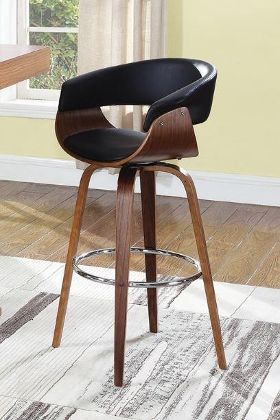 Surprising Bar Stools Wood Swivel Contemporary Walnut And Black Bar Stool Pdpeps Interior Chair Design Pdpepsorg