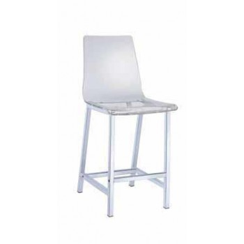 EVERYDAY DINING: STOOLS - Everyday Contemporary Clear and Chrome Bar Stool (Pack of 2)
