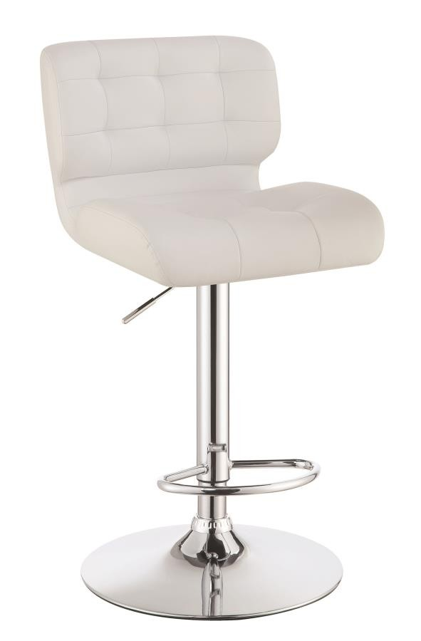 Awesome Rec Room Bar Stools Height Adjustable Contemporary White Upholstered Bar Stool Pack Of 2 Gamerscity Chair Design For Home Gamerscityorg