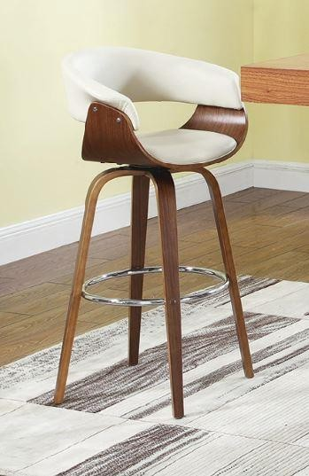 Enjoyable Bar Stools Wood Swivel Contemporary Walnut And Cream Bar Stool Dailytribune Chair Design For Home Dailytribuneorg