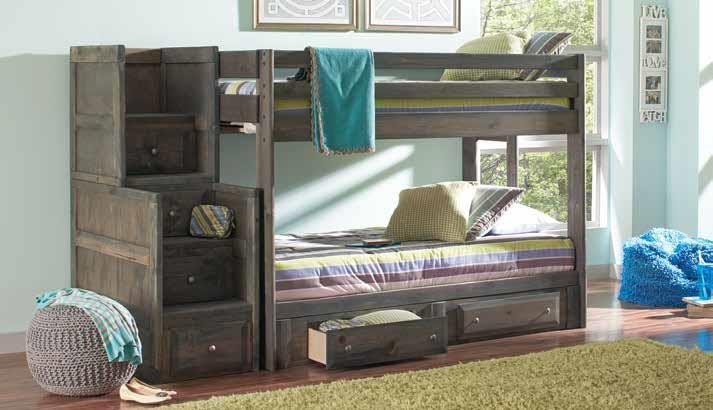 WRANGLE HILL COLLECTION - T/T BUNK BED