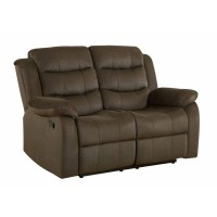 RODMAN MOTION COLLECTION - Rodman Chocolate Reclining Loveseat