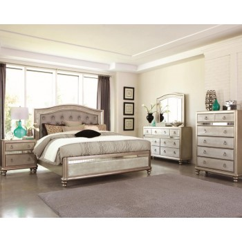 BLING GAME COLLECTION - Bling Game Metallic Queen Bed