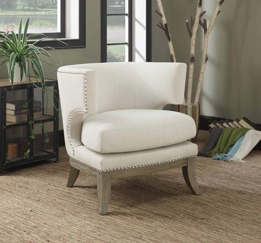 Accents Chairs Contemporary White Accent Chair