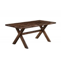 ALSTON COLLECTION - Alston Rustic Knotty Nutmeg Dining Table