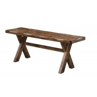 ALSTON COLLECTION - Alston Casual Knotty Nutmeg Bench