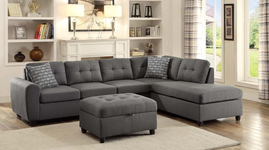 STONENESSE SECTIONAL - Stonenesse Contemporary Grey Sectional