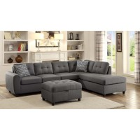 STONENESSE SECTIONAL - Stonenesse Contemporary Grey Storage Ottoman