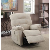 LIVING ROOM : POWER LIFT RECLINERS - Taupe Power Lift Recliner