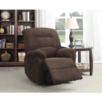 LIVING ROOM : POWER LIFT RECLINERS - Chocolate Power Lift Recliner