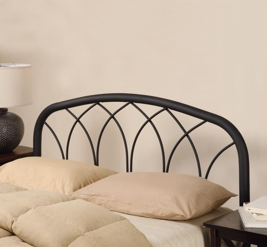 METAL HEADBOARD - Traditional Black Queen/Full Headboard with Arches