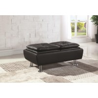 DILLESTON COLLECTION - Dilleston Contemporary Black Ottoman