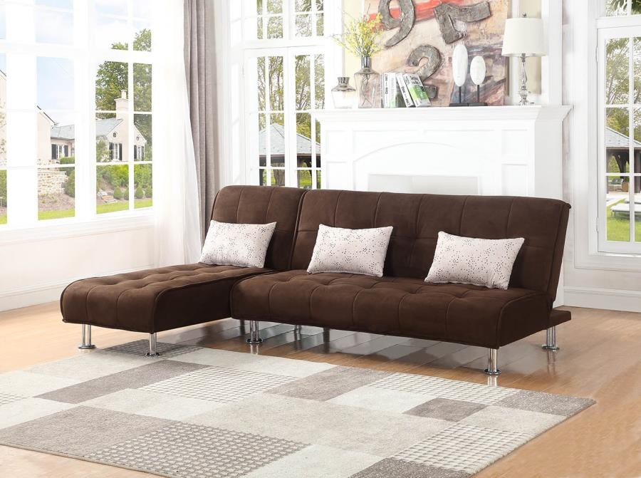 ELLWOOD COLLECTION - Ellwood Transitional Brown Chaise