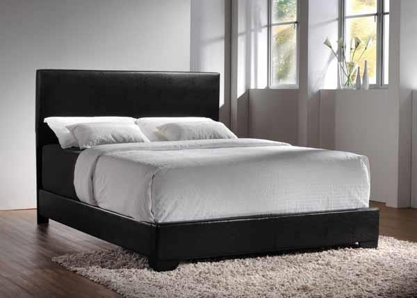CONNER COLLECTION - Conner Casual Black Upholstered Eastern King Bed
