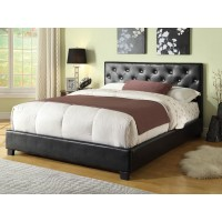 REGINA BED - Regina Transitional Black Queen Bed