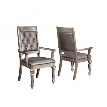 BLING GAME COLLECTION - Bling Game Hollywood Glam Metallic Platinum Armchair (Pack of 2)