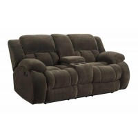 WEISSMAN MOTION COLLECTION - Weissman Brown Reclining Loveseat