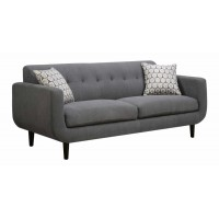 STANSALL COLLECTION - Stansall Mid-Century Modern Grey Sofa