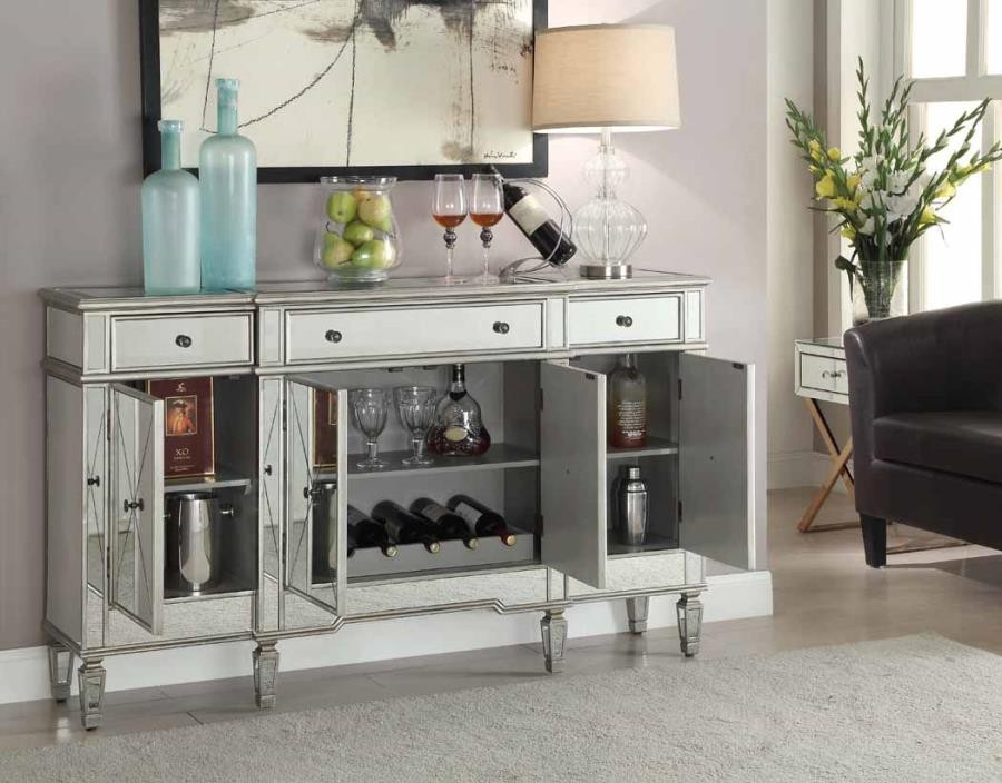Outstanding Transitional Mirror And Silver Wine Cabinet Uwap Interior Chair Design Uwaporg