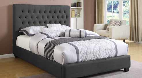 Chloe Upholstered Bed - QUEEN BED
