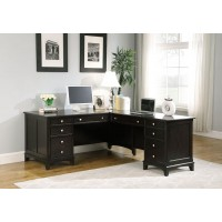 GARSON COLLECTION - Garson Cappuccino L-Shaped Office Desk