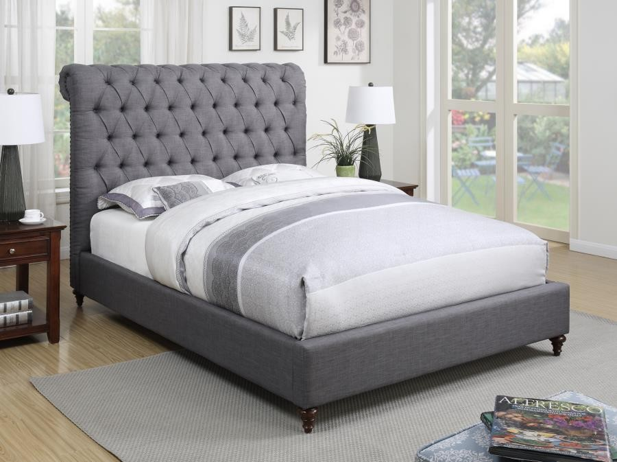 DEVON UPHOLSTERED BED - QUEEN BED