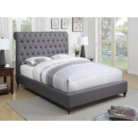 DEVON UPHOLSTERED BED - QUEEN BED