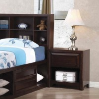 GREENOUGH COLLECTION - Greenough Transitional Cappuccino Nightstand