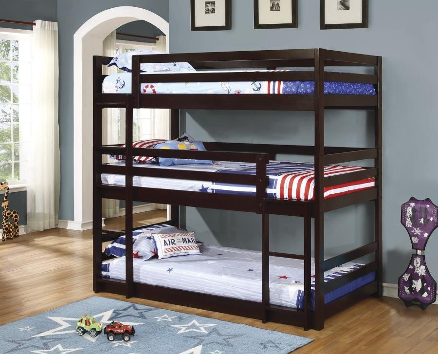 SANDLER COLLECTION - Sandler Cappuccino Three-Bed Bunk Bed