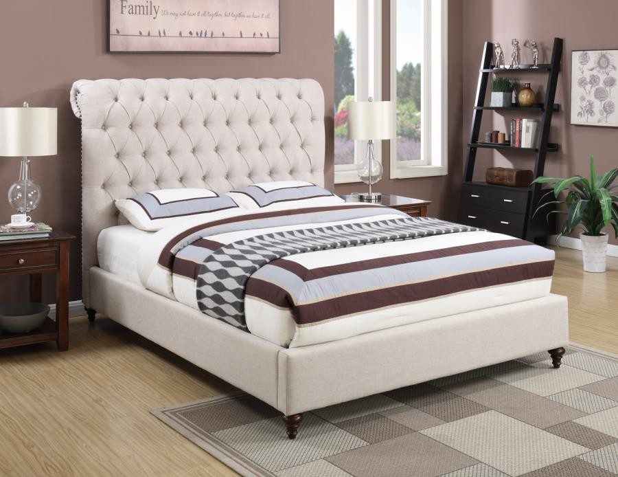 DEVON UPHOLSTERED BED - EASTERN KING BED