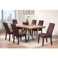 SPRING CREEK COLLECTION - Spring Creek Industrial Natural Walnut Dining Table