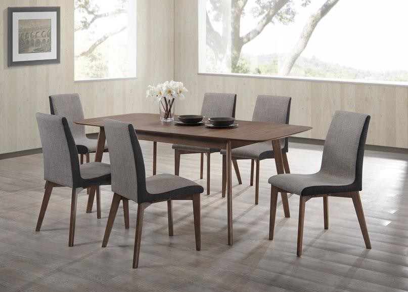 REDBRIDGE COLLECTION - Redbridge Mid-Century Modern Natural Walnut Dining  Table