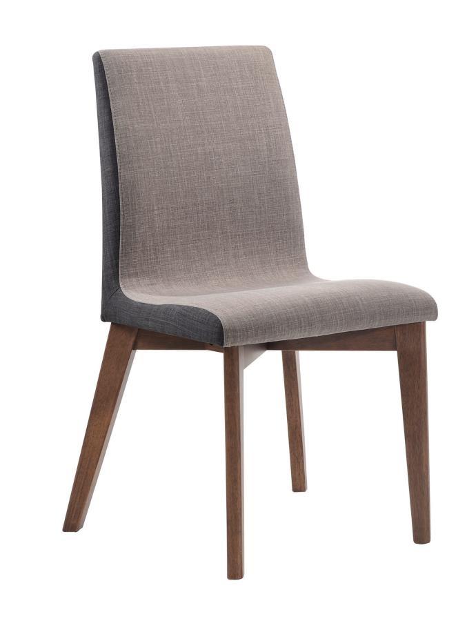 REDBRIDGE COLLECTION - Redbridge Mid-Century Modern Natural Walnut Dining  Chair (Pack of 2)