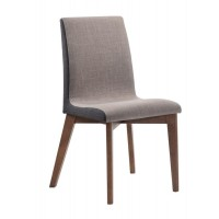 REDBRIDGE COLLECTION - Redbridge Mid-Century Modern Natural Walnut Dining Chair (Pack of 2)