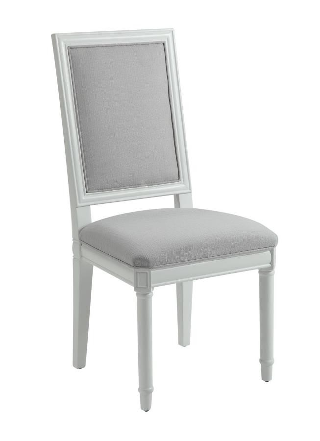 Hampshire White Upholstered Side Chair Pack Of 2 180242 Chairs Price Busters Furniture